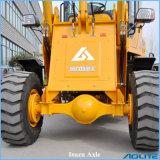 1000kg車輪のローダーの中国の小さい庭のトラクターのローダー