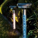 Luzes solares inoxidáveis do jardim com multi iluminação do diodo emissor de luz da cor