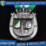 il metallo di marchio 3D mette in mostra la medaglia dell'incisione della medaglia con il nastro variopinto
