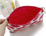 Fermer la fermeture éclair vers le haut la caisse cosmétique de polyester de mode pour les dames/petite poche pour la course (MOUCHE CB0123)