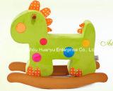 Dinossauro do cavalo de balanço da fonte da fábrica