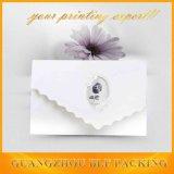 Tarjeta de lujo de la invitación de la boda de papel