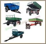 De nieuwe Europese Aanhangwagen van de Machines van het Landbouwbedrijf van de Aanhangwagen van de Stijl Opgezette Dumpende Tractor