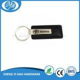 在庫の昇進のギフトレーザーのロゴの革車Keychain