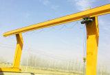 L печатает кран на козлах на машинке подъема веревочки провода с крюком