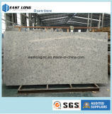 Pedra de mármore artificial de quartzo da cor do projeto moderno para o material de construção da parte superior de tabela das bordadura da cuba do Countertop/da cozinha