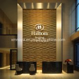 Feuerfestes Sound Absorption 3D Wall Panel für Hotel Lobby Decorative