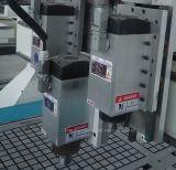 Router pneumático do ATC do CNC de três cabeças com sistema do vácuo