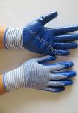 Gants de travail de sécurité protectrice du travail de gant recouvert de Natrile (N7006)
