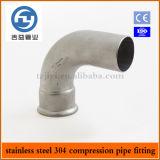 Imprensa inoxidável da tubulação de aço que cabe a única compressão cotovelo de 90 graus