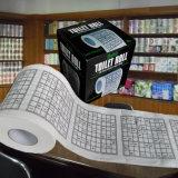 Sudokuのトイレットペーパーの屋内トイレロールはデザインによってカスタマイズされたトイレットペーパーを印刷した