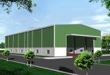 Hecho en el almacenaje prefabricado China de la estructura de acero vertido/almacén (KXD-SSW36)