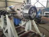 Cadena de producción del tubo del abastecimiento de agua del gas del HDPE máquina 160-400m m