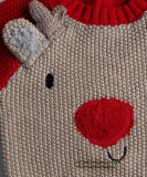 Kids Sweater Intarsia Reindeer for Servant boys