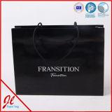 Sac à provisions de papier au détail de luxe estampé par coutume bon marché, sac de papier de coût bas,