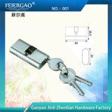 고급장교 또는 아연 실린더 001를 가진 알루미늄 미닫이 문 자물쇠