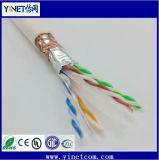 Cavo di lan schermato di /CAT6 23AWG 4pairs del cavo della rete del ftp Cat5e LSZH doppio