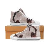 El diseño de la fábrica de Dropshipping sus propios zapatos con la sublimación imprime las zapatillas de deporte unisex clásicas de la lona