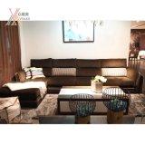 Sofá moderno da sala de visitas da tela da forma ajustado (GC811)