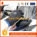 Связанная черная перчатка Dkp138 PVC