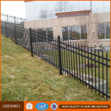 Black Powder Coated Hot DIP Galvanisé Durable Metal 3 Rail Fence