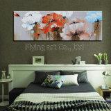 Peinture fleur abstraite pour décoration maison