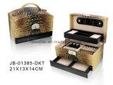 Bolso de moda de la caja de joyería de cocodrilo marrón Estilo