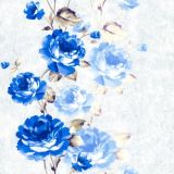 Papel de parede material do PVC Desind Itally floral