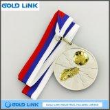 3D In reliëf gemaakte Trofeeën van het Muntstuk van de Uitdaging van de Voetbal van de Medailles van de Douane van de Medaille van het Messing
