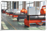 HVAC를 위한 580kw에 의하여 주문을 받아서 만들어지는 고능률 Industria 물에 의하여 냉각되는 나사 냉각장치