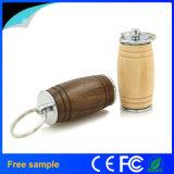 Alta velocidad de vino Cubo de madera y metal USB Flash Drive