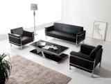 Sofá simples moderno do couro do escritório do lazer