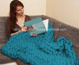 نمو أكريليكيّ صوف ليّنة سرير يد يحبك حبك غطاء دثار