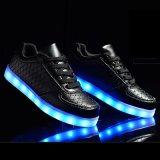 OEM Hete de Verkopende LEIDENE Lichte die Schoen van de Sport in LEIDENE Van uitstekende kwaliteit van de Prijs van China Lage Schoenen wordt gemaakt