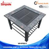 직업적인 금속 사각 옥외 BBQ 현대 화재 구덩이 테이블