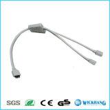 кабель Splitter RGB разъём-розетка 4pin 1 до 2/3/4 для прокладки 3528 5050 RGB СИД