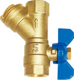 A válvula de esfera de rosca de filtro de bronze (EM-V-20)