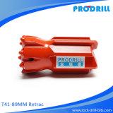 Продетые нитку Retrac биты кнопки T51-89 для верхнего Drilling молотка