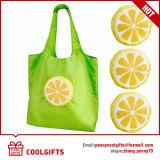 190tポリエステルレモンスーパーマーケットのための折るショッピング・バッグ