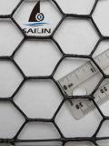 Engranzamento de fio sextavado revestido do PVC de Sailin com fio de aço