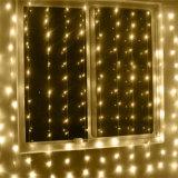 Buntes im Freien des Feiertags-LED Licht Weihnachtsder dekoration-3*1m des Vorhang-144LED
