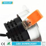 La MAZORCA Downlight 7W de Dimmable LED calienta la plata de aluminio blanca de la arena