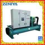 Refrigerador de parafuso de baixo ruído com recuperação de energia para refrigeração