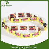 Seul bracelet fait sur commande d'indicateur de pays de tissu de Terry