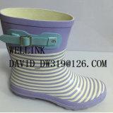 Rb caliente Rainboot de las señoras del estilo con la correa decorativa