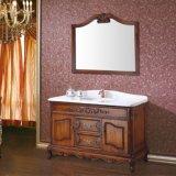 Antike festes Holz-Badezimmer-Eitelkeit mit Spiegel