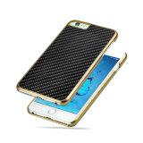 De hete Mobiele Gevallen van de Telefoon voor iPhone 6s plus de Vezel van de Koolstof galvaniseren Dekking
