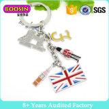 Оптовая продажа #16589 фабрики Китая Keyring металла Keychain шарма флага выдвиженческой эмали ювелирных изделий международная