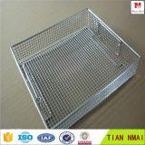 La cesta del acoplamiento de alambre médica desinfecta el acoplamiento de alambre de la cesta/de acero inoxidable para el hospital