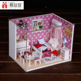 Venta caliente Montaje de casa de muñeca de juguete de madera